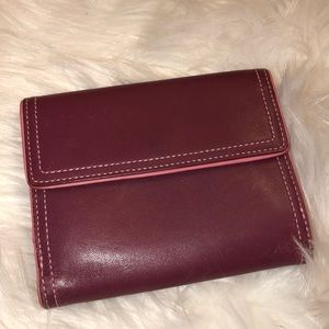 Coach Leather Wallet Very Good Condition